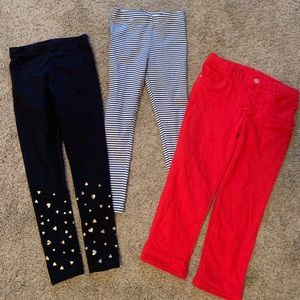 Girls Mixed Set Of 3 Carter's Leggings